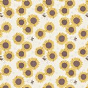Lewis & Irene Farmers Market - 5350 - Sunflowers on Cream - A211.1 - Cotton Fabric